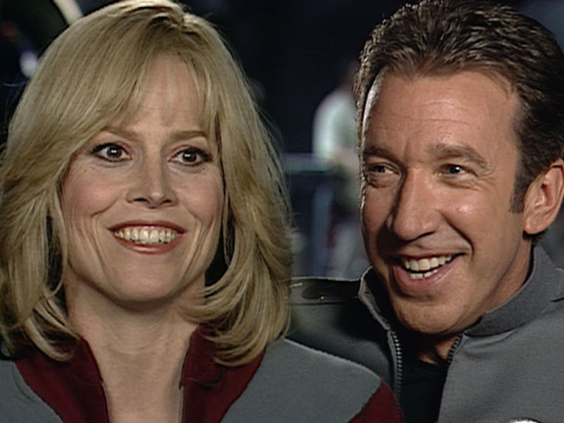 Sigourney Weaver and Tim Allen in Galaxy Quest