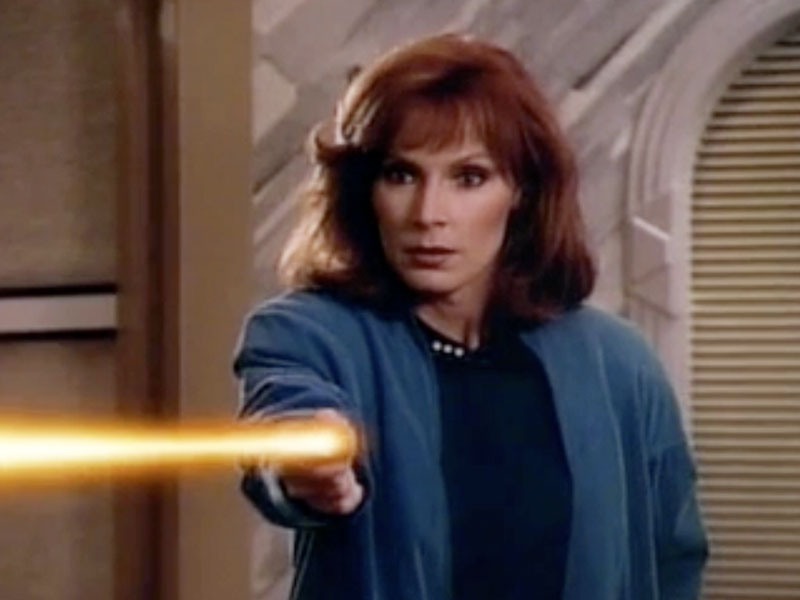Gates McFadden as Beverly Crusher on Star Trek: The Next Generation