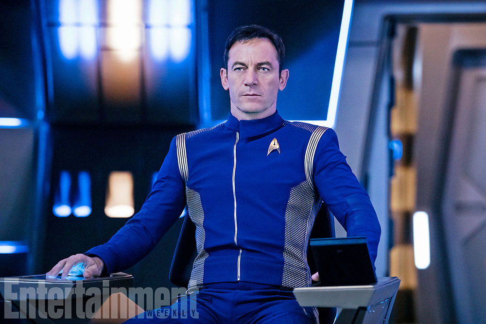 Jason Isaacs as Captain Lorca on Star Trek: Discovery