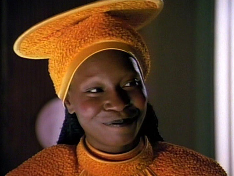 Whoopi Goldberg as Guinan on Star Trek: The Next Generation