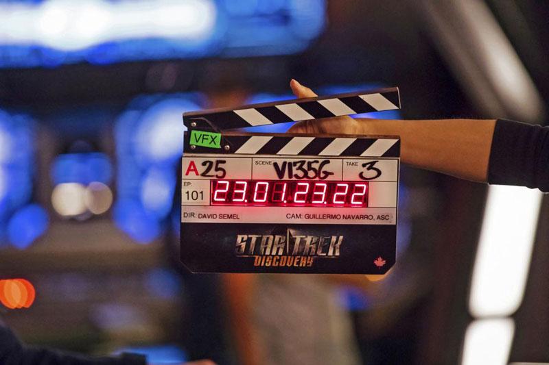 Star Trek: Discovery clapboard