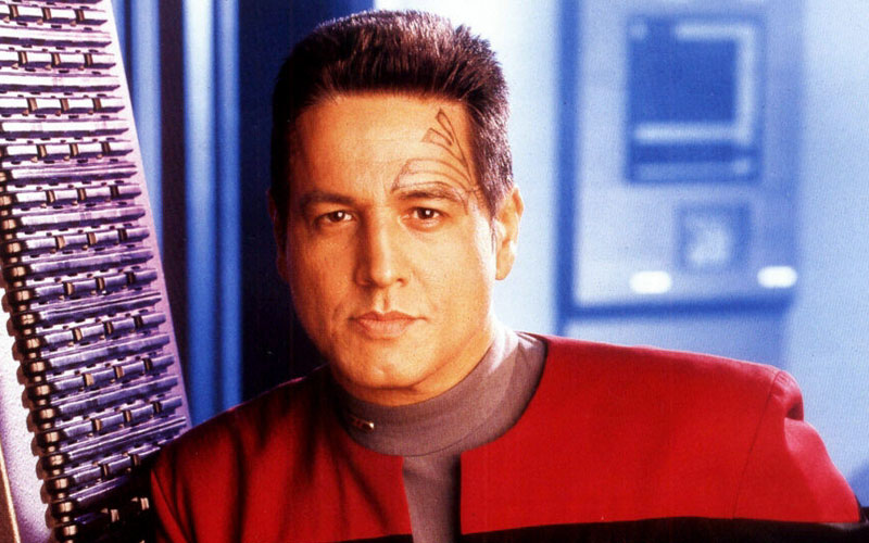 Robert Beltran as Chakotay on Star Trek: Voyager