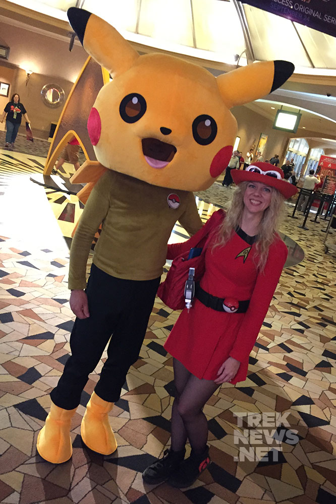 Starfleet Pikachu and Ash