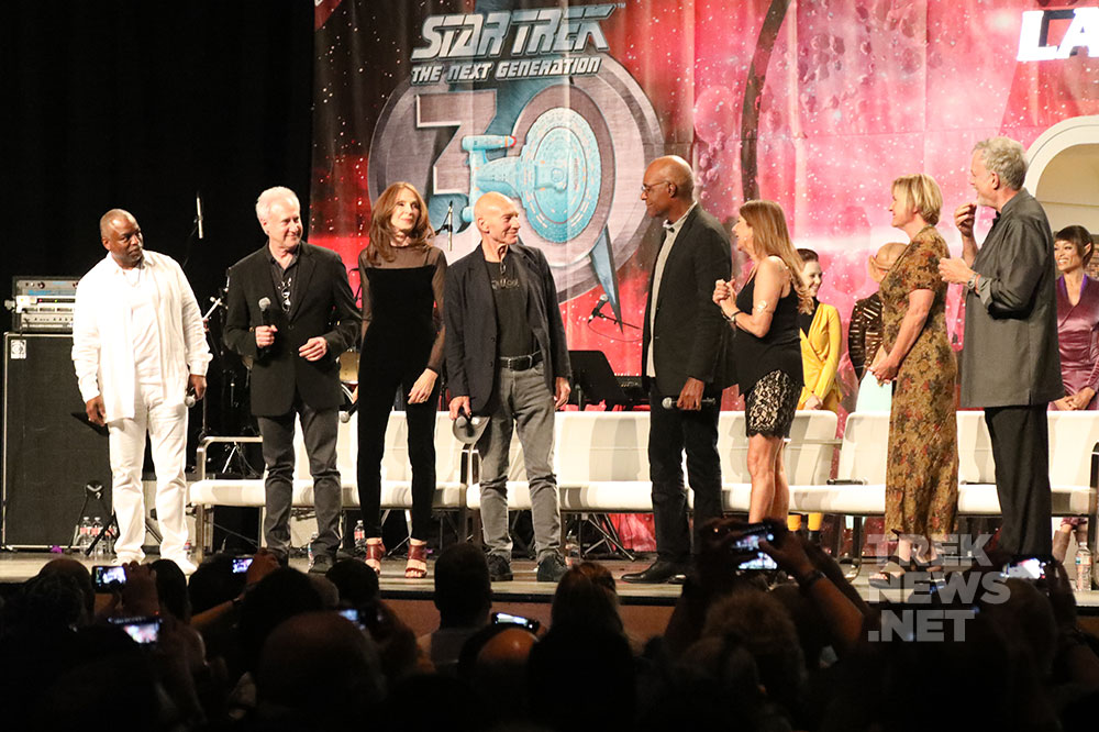 The cast of Star Trek: The Next Generation at Star Trek Las Vegas in August 2017