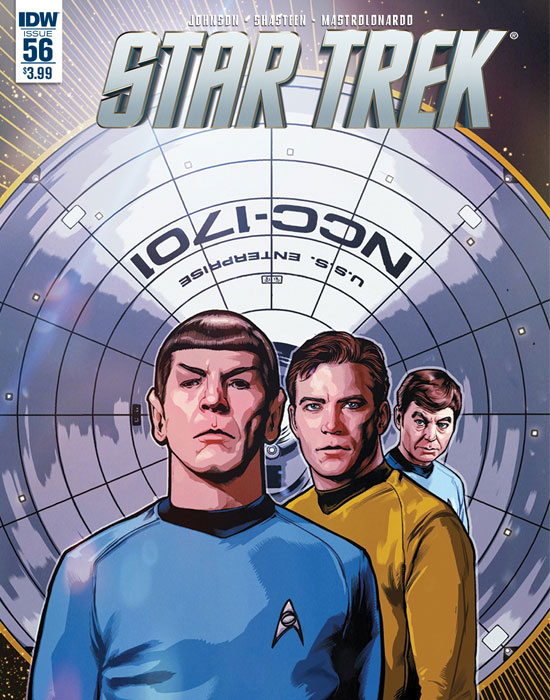 The cover of IDW's Star Trek issues 56