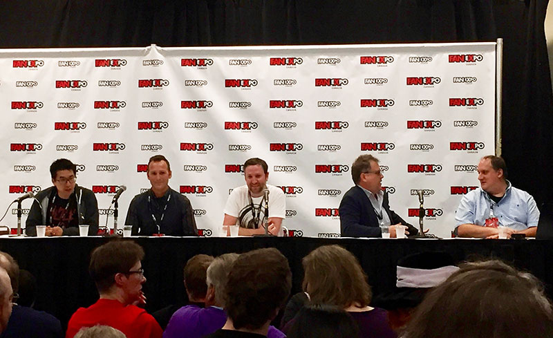 <em>Star Trek: Discovery</em> production panel. From left to right: Andy Sang, Matt Middleton, Matt Morgan, Mark Steel, Tim Peel.