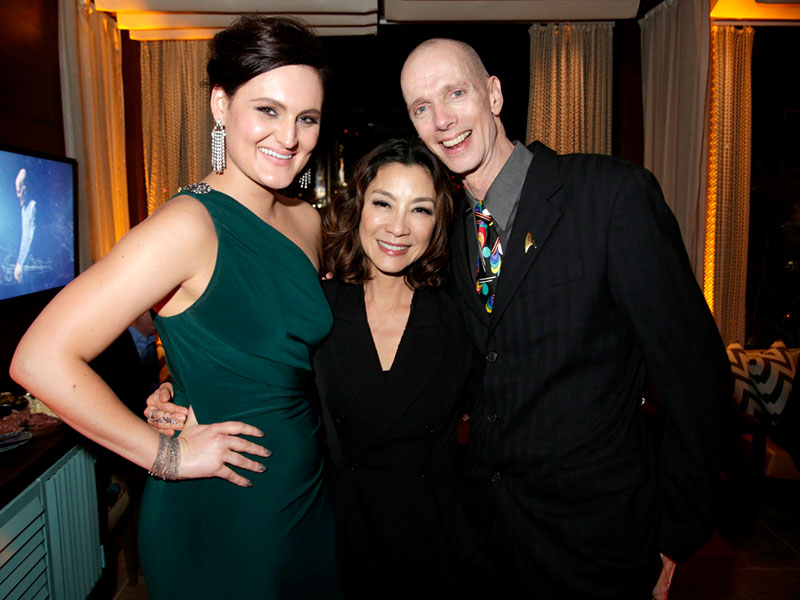Mary Chieffo, Michelle Yeoh and Doug Jones