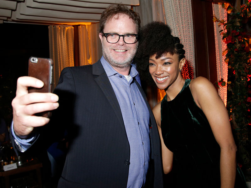 Rainn Wilson and Sonequa Martin-Green
