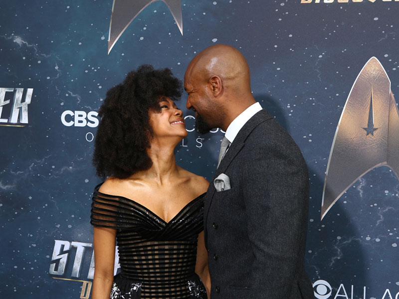 Sonequa Martin-Green and her husband Kenric Green