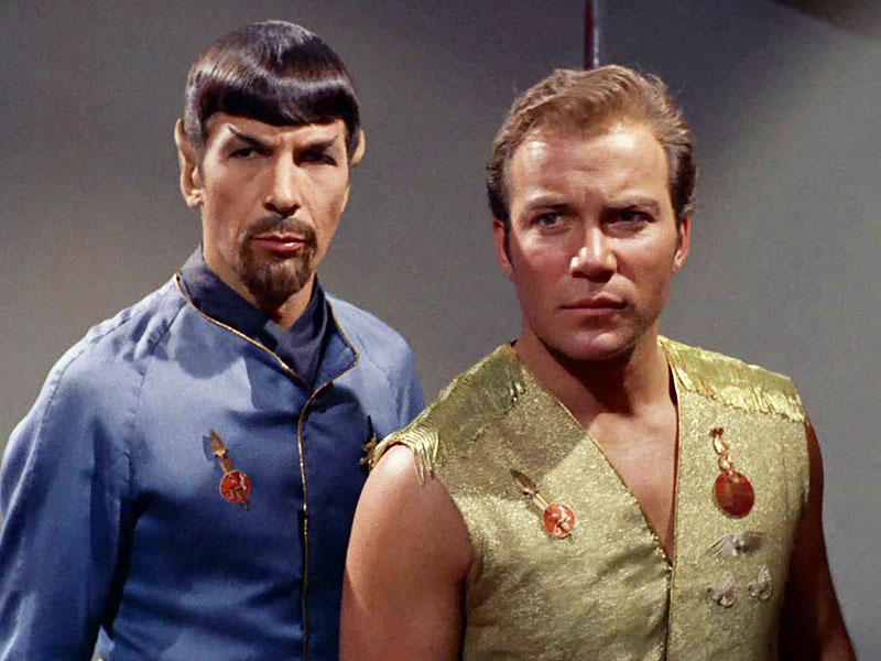 "Spock and Kirk in the Original Series episode ""Mirror, Mirror"""