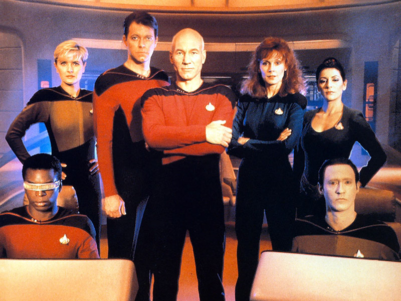 A Star Trek: TNG - First Season publicity photo