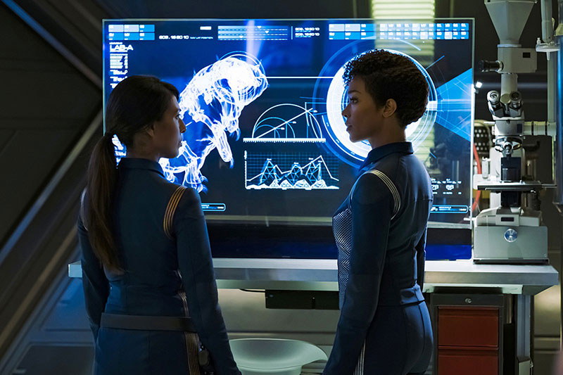 Rekha Sharma as Commander Landry; Sonequa Martin-Green as Michael Burnham