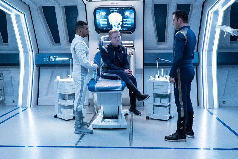 Wilson Cruz as Dr. Hugh Culber, Anthony Rapp as Lieutenant Paul Stamets and Jason Isaacs as Captain Gabriel Lorca