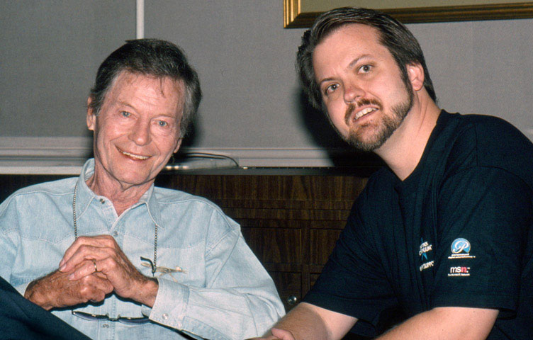 Larry Nemecek with DeForest Kelley