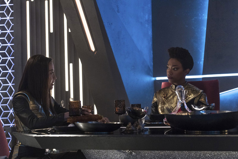 Michelle Yeoh as Phillipa Georgiou and Sonequa Martin-Green as Michael Burnham