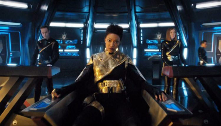 Sonequa Martin-Green as Michael Burnham in the Mirror Universe