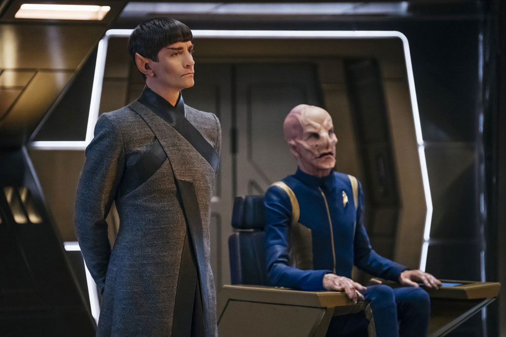 James Frain as Ambassador Sarek and Doug Jones as Saru