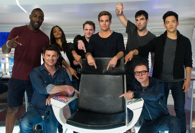 The cast of Star Trek Beyond