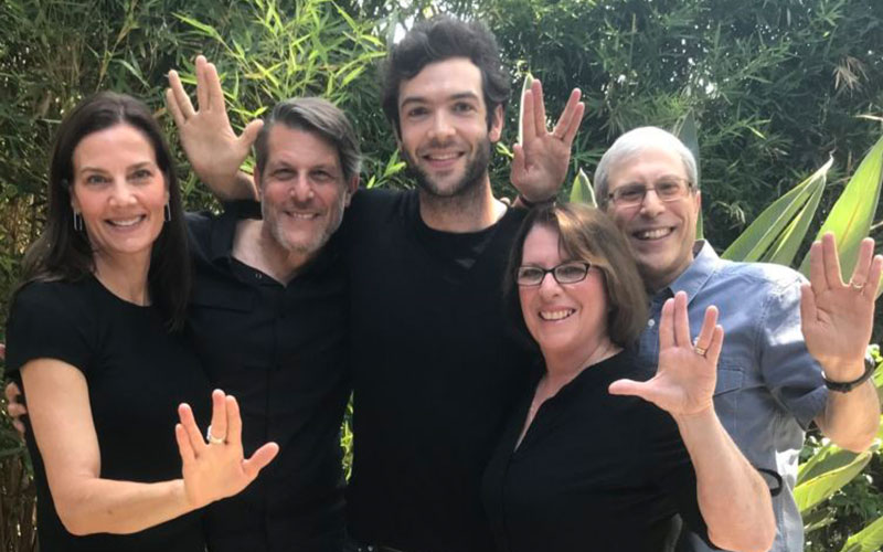 Actor Ethan Peck with the Nimoy Family