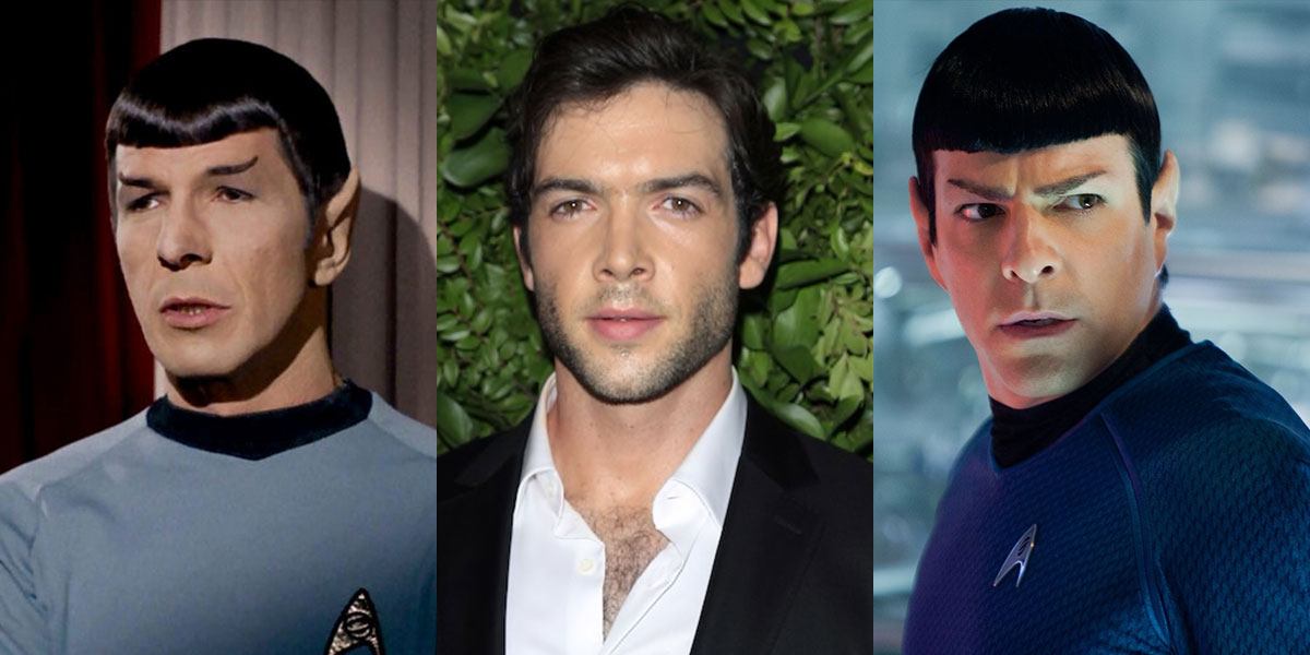The Spocks: Leonard Nimoy, Ethan Peck and Zachary Quinto