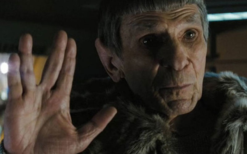 Nimoy as Spock in Star Trek Into Darkness