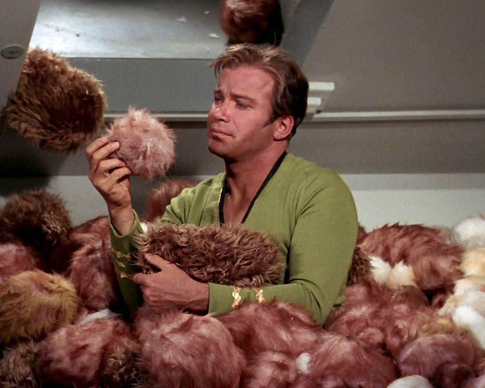Kirk and Tribbles