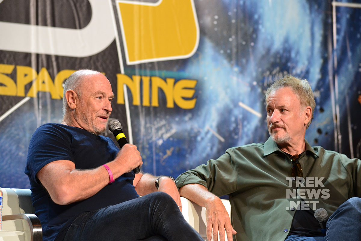 Corbin Bernsen and John de Lancie