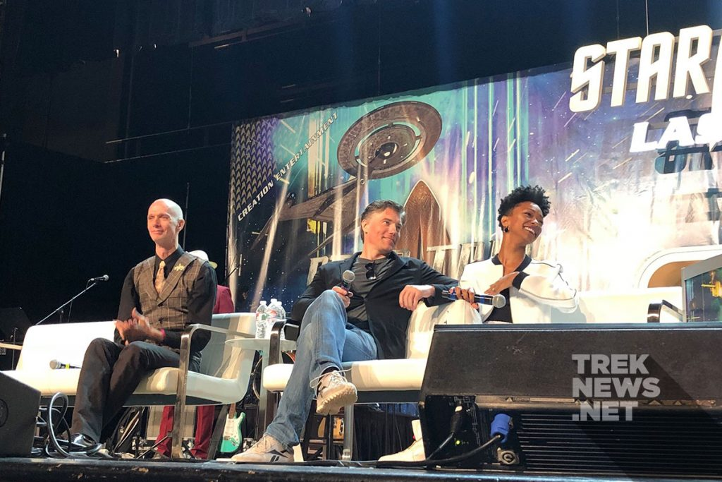 Doug Jones, Anson Mount and Sonequa Martin-Gree