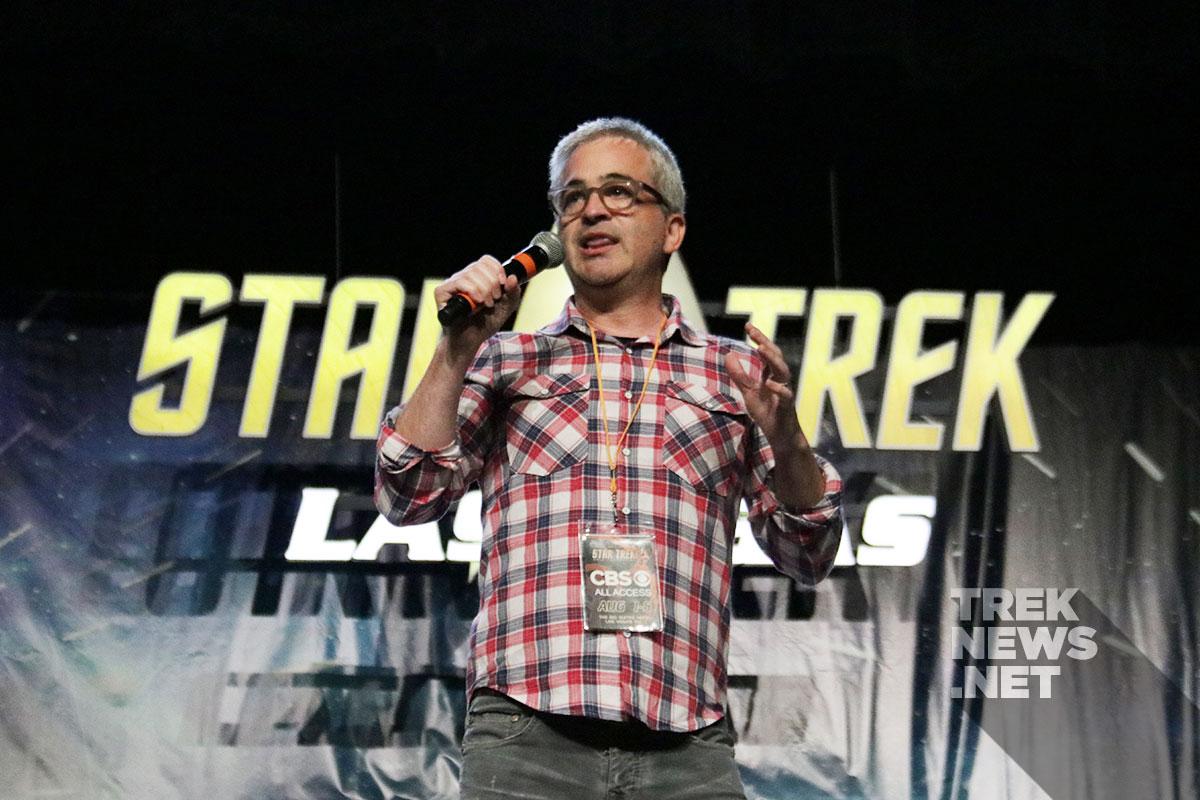 Executive Producer Alex Kurtzman introduces Stewart to the Vegas crowd