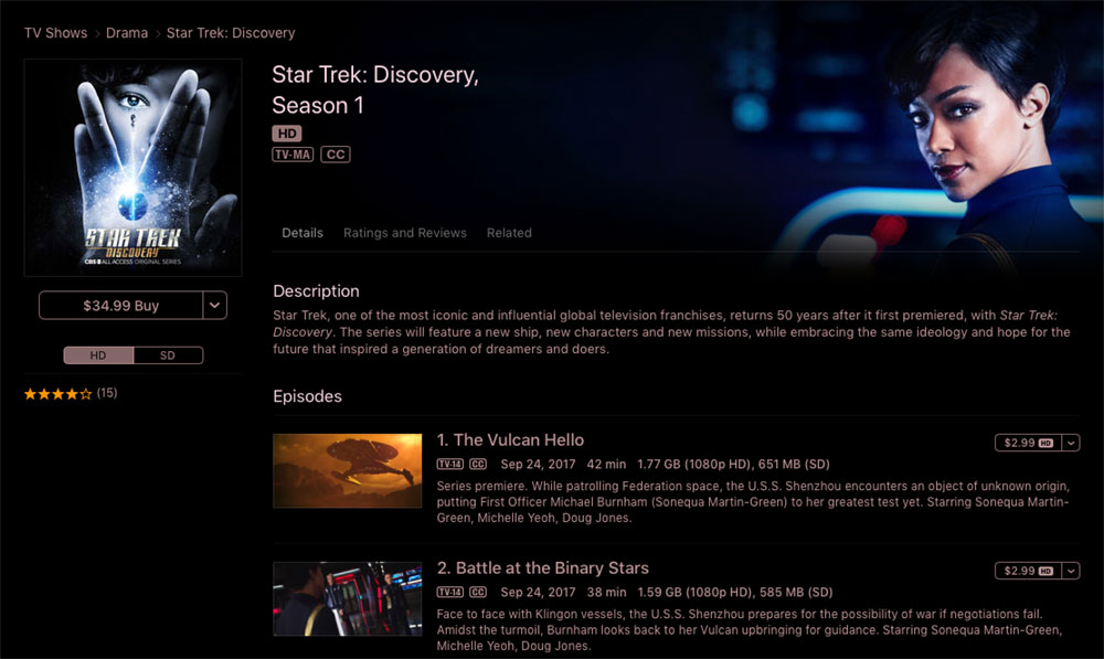 Star Trek: Discovery Season 1 on iTunes