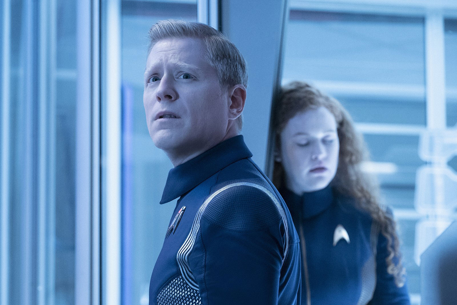 Anthony Rapp as Stamets and Mary Wiseman as Sylvia Tilly