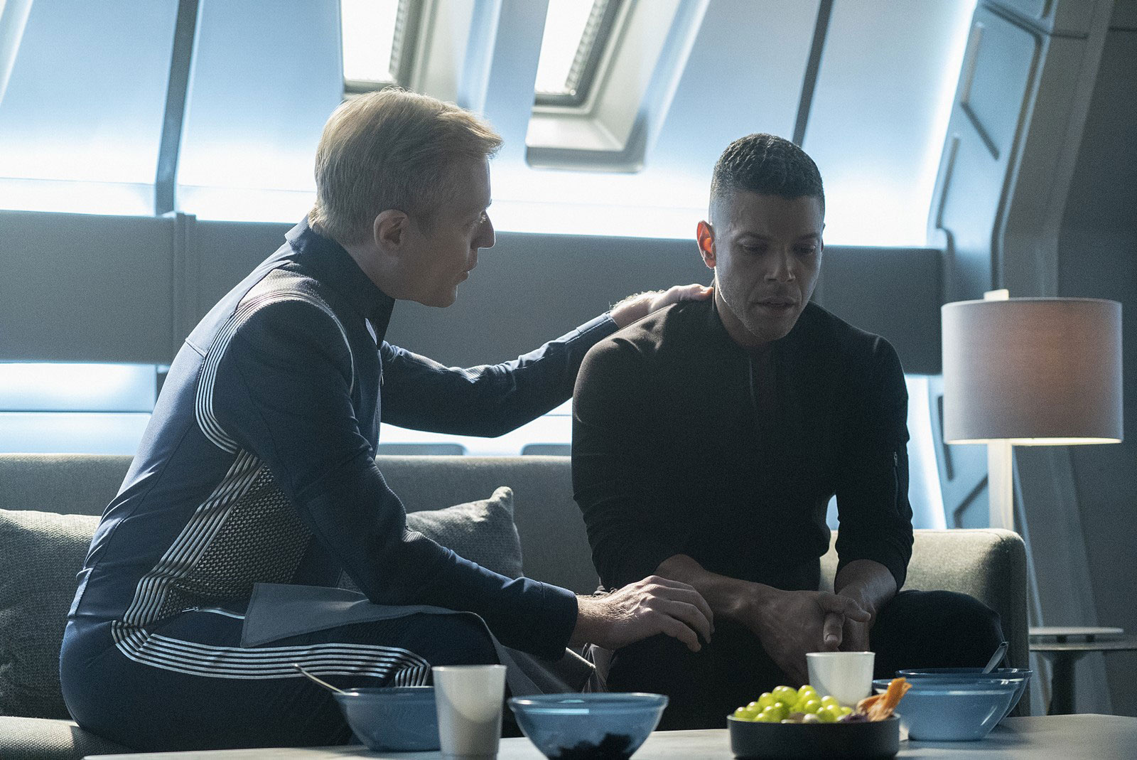 Anthony Rapp as Paul Stamets and Wilson Cruz as Hugh Culber