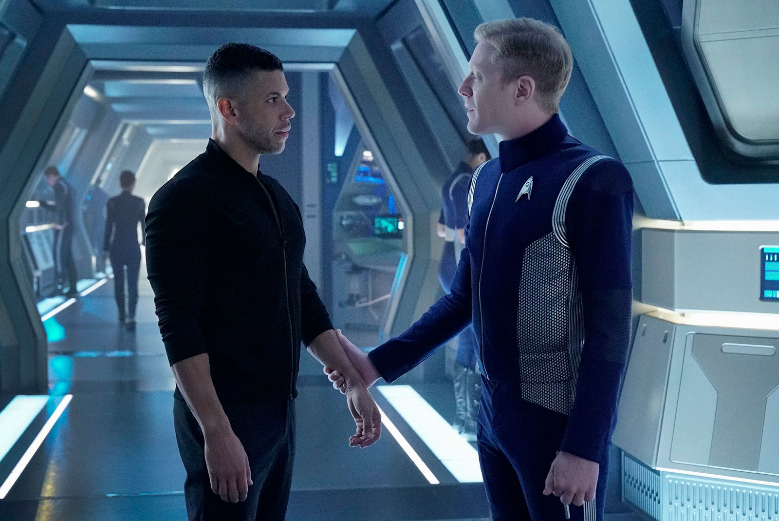 Wilson Cruz as Hugh Culber and Anthony Rapp as Paul Stamets