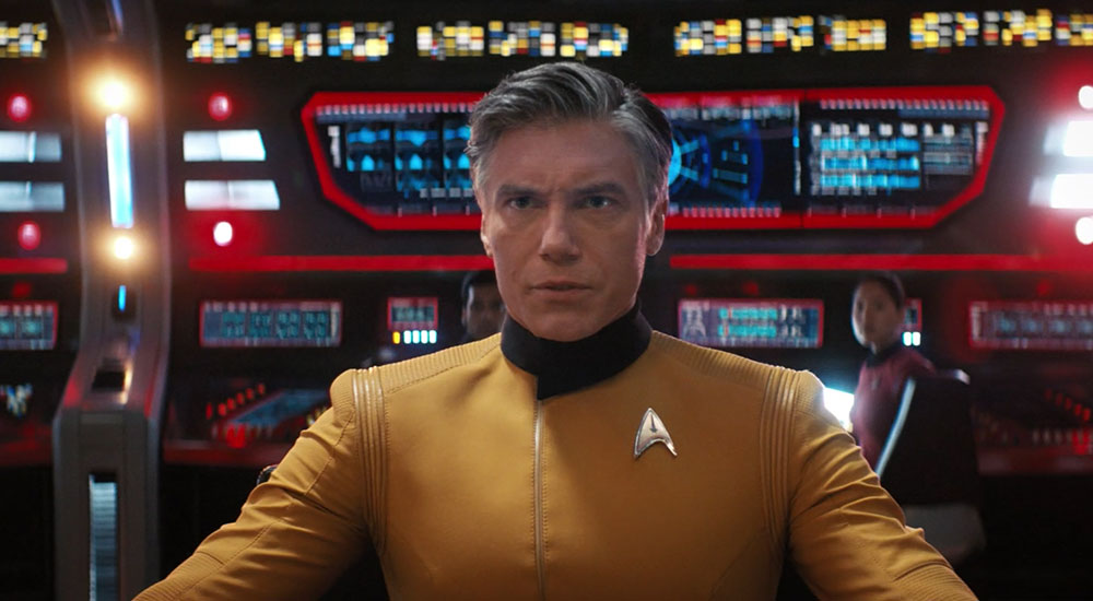 Pike on the bridge of the Enterprise
