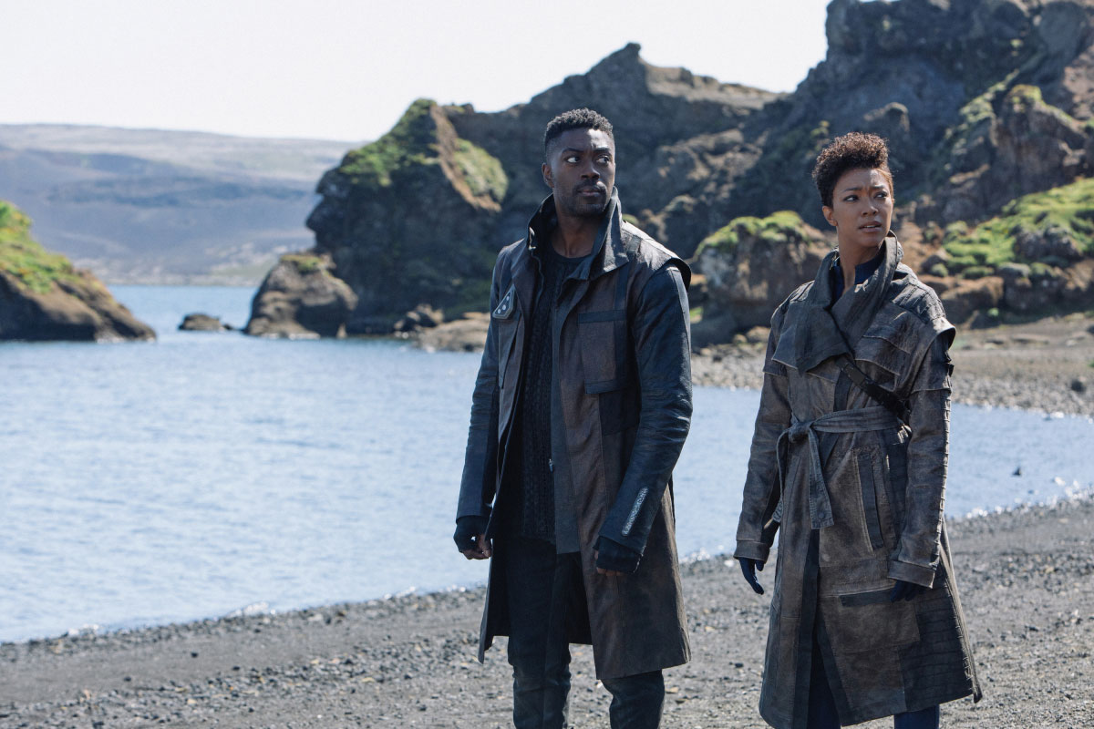 David Ajala as Cleveland Booker and Sonequa Martin-Green as Burnham