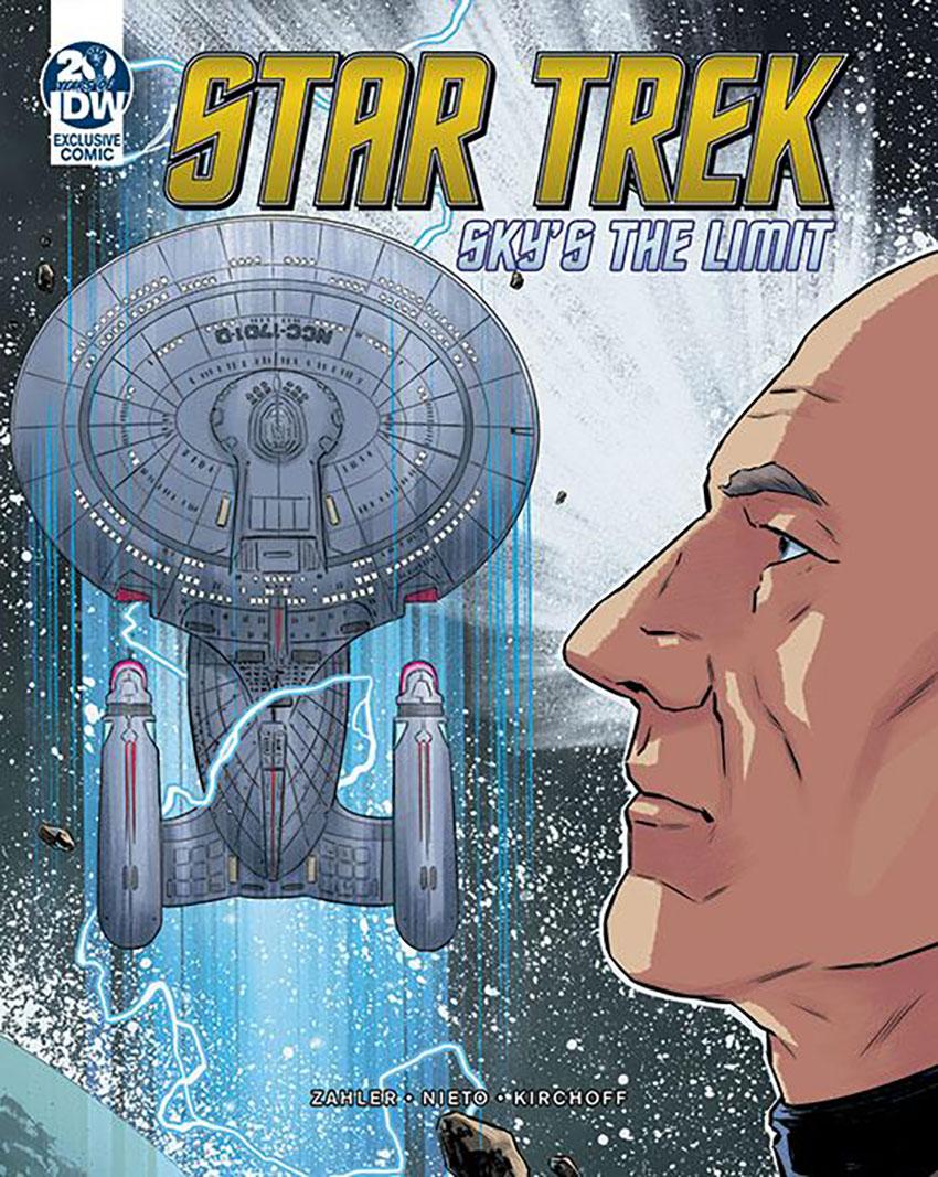 Star Trek: Sky's the Limit comic book cover art