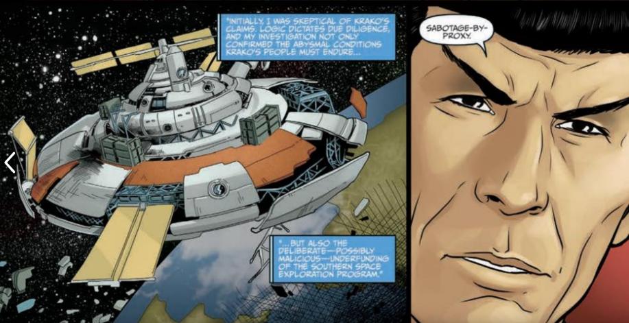 Art from Star Trek: Year Five #4