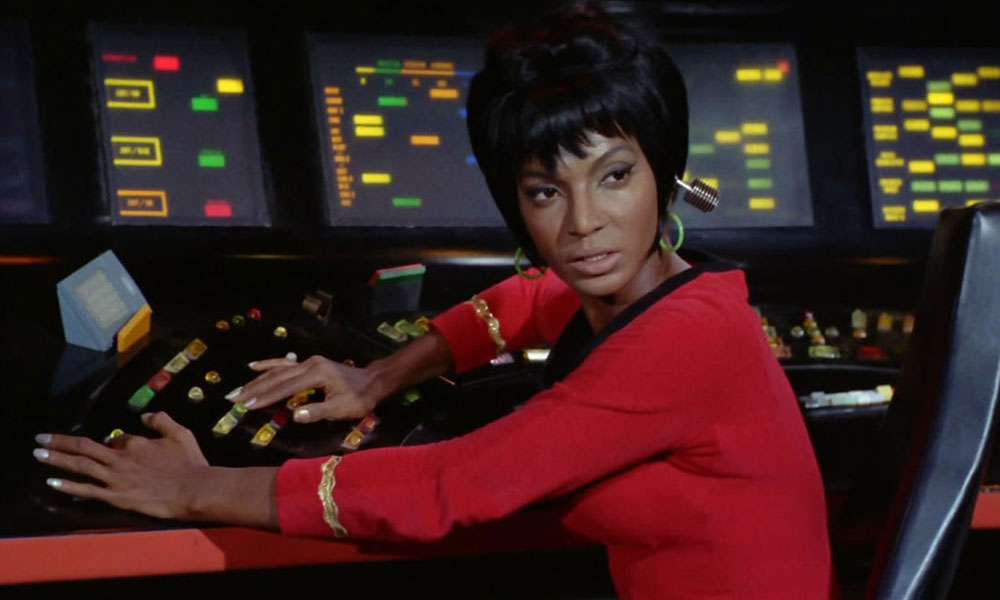 Nichelle Nichols as Uhura on Star Trek: The Original Series