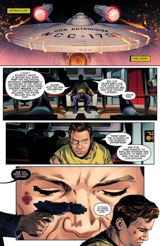 Page One of Star Trek: Year Five #1