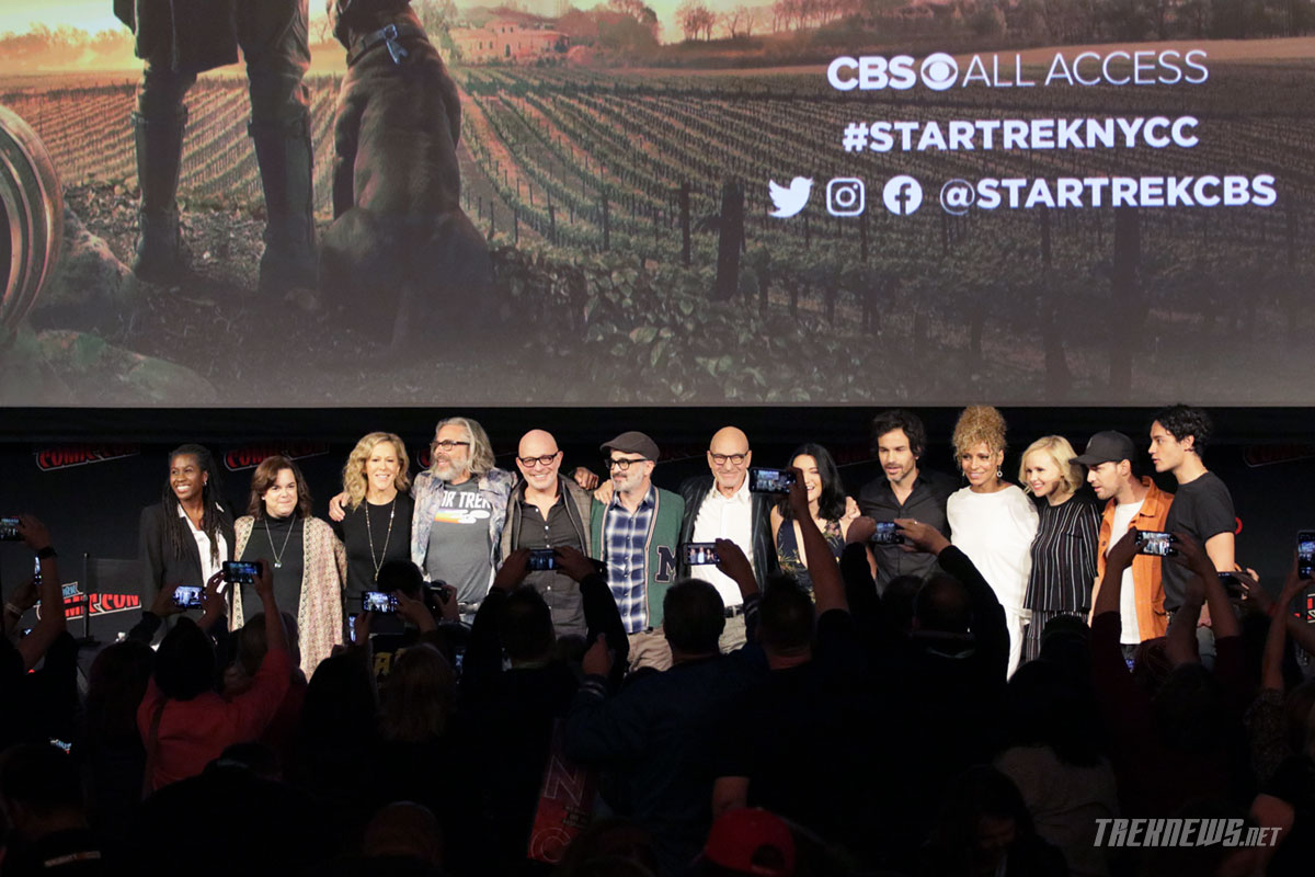 The Star Trek: Picard cast and crew on stage at New York Comic Con