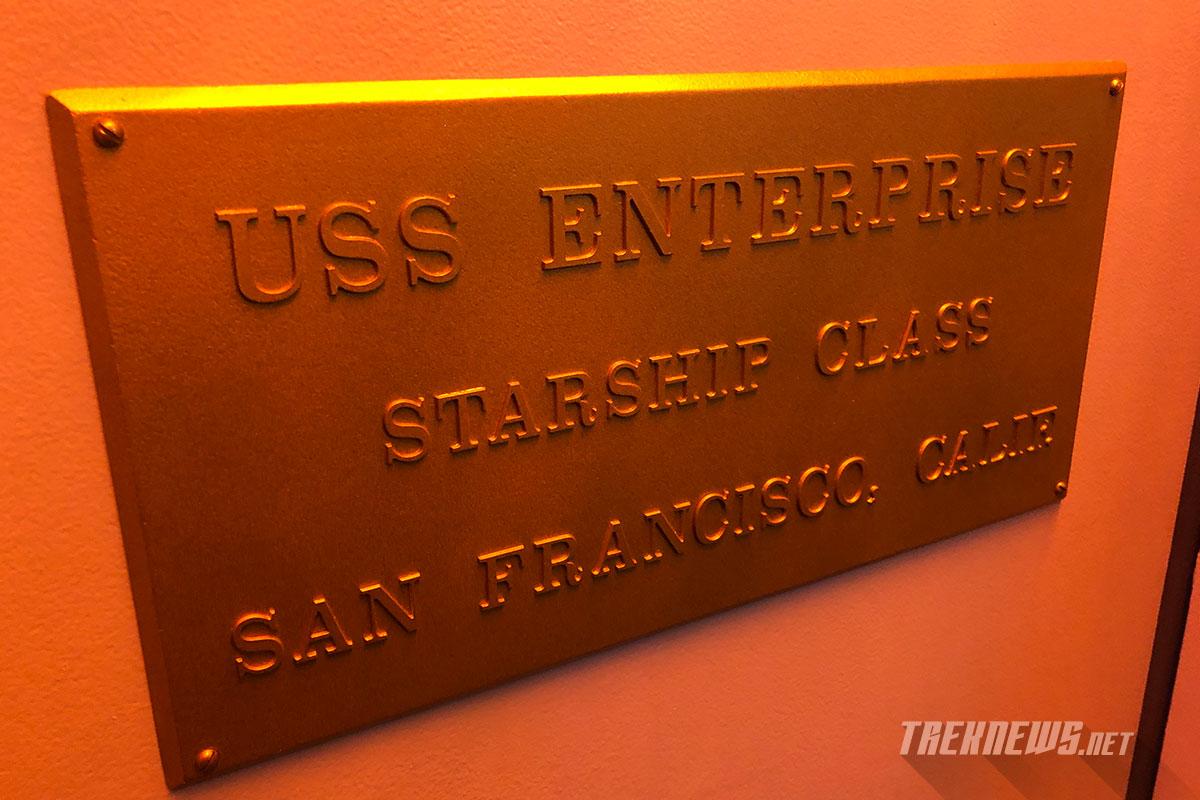 U.S.S. Enterprise dedication plaque