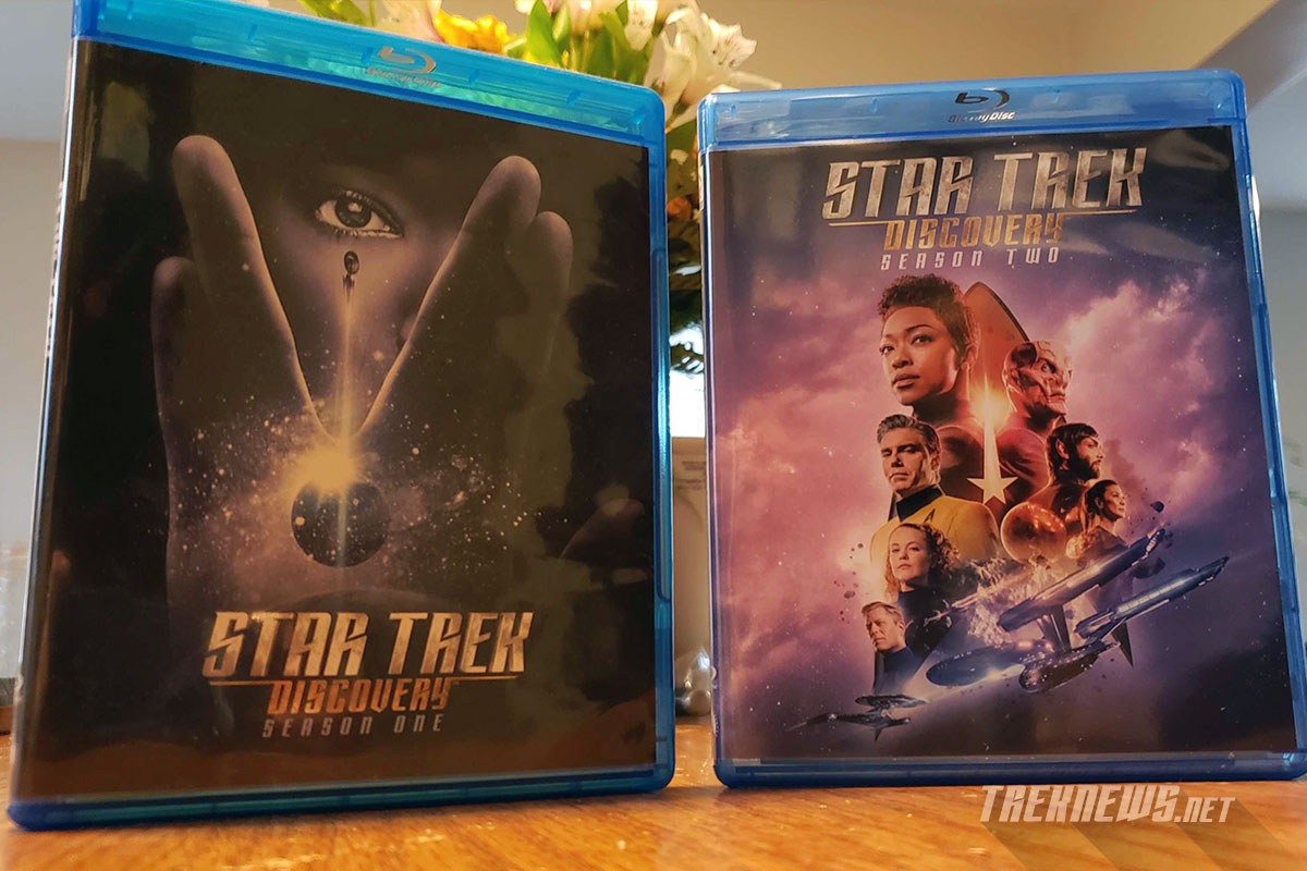 Comparison shot of Star Trek: Discovery season1 and 2 on Blu-ray