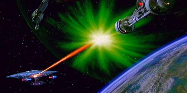 Enterprise D firing phasers