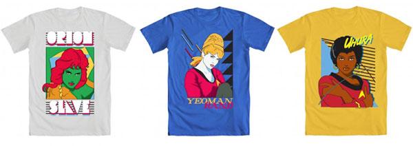 Mighty Fine Star Trek T-shirts
