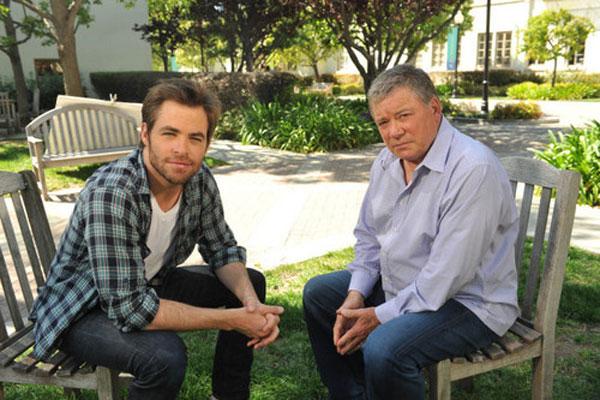 Chris Pine and William Shatner