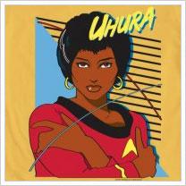 Uhura shirt from Mighty Fine