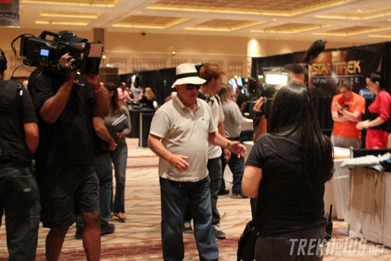 William Shatner filming Fan Addicts