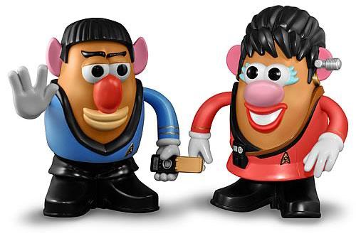 Spock & Uhura Potato Heads