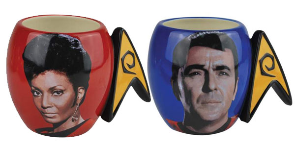 Uhura & Scotty Coffee Mugs