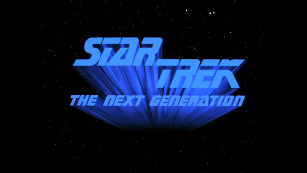 The Star Trek: The Next Generation title screen